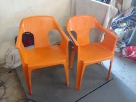 chaise s  de  jardin orange