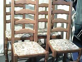 Lot 4 chaises
