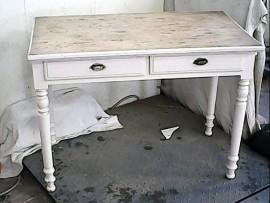 Table anc. 2 tiroirs