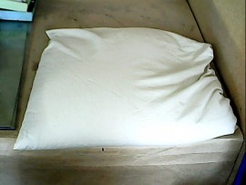 Oreiller coton bio + grains