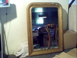 Miroir cadre doré