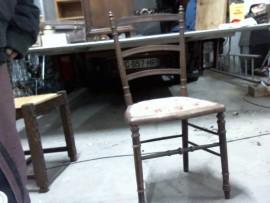 chaise à fleurs