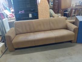 Ens. canapé et fauteuil cuir