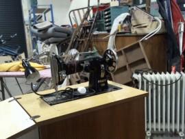 meuble machine a coudre a pedale