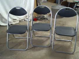 Lot 3 chaises pliantes