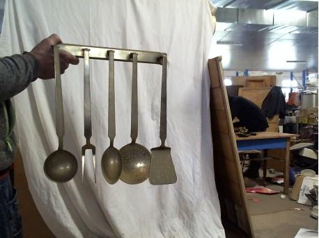 Set ustensiles bronze