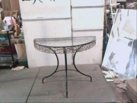 table dessus verre