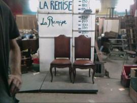 lot de 6 chaises cuirs