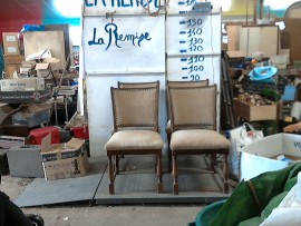 chaises tissu