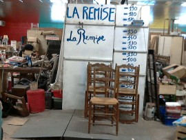 lot 5 chaises