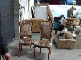 6 chaises fleuries
