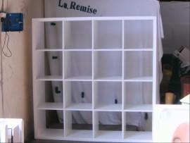 Bibliothèque style Ikea blanc