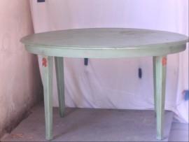 table verte bois
